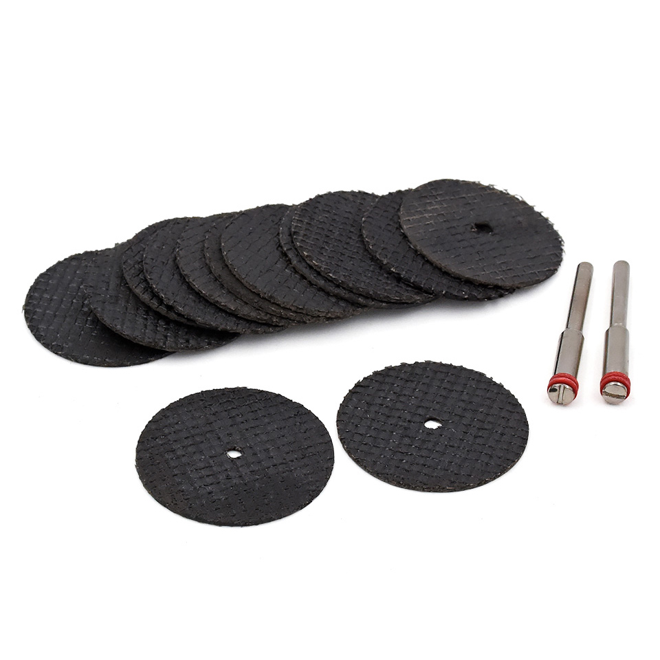 10dílná pryskyřice Fiber Wheel Pilový kotouč na řezání kotoučů pro řezání ocelových kovů Brusné nástroje pro broušení příslušenství Dremel