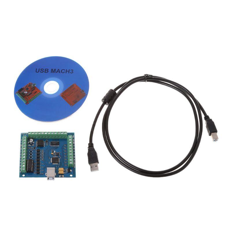 12-24V CNC MACH3 USB 4 Axis 100KHz Stepper Motion Controller Card Breakout Board недорого