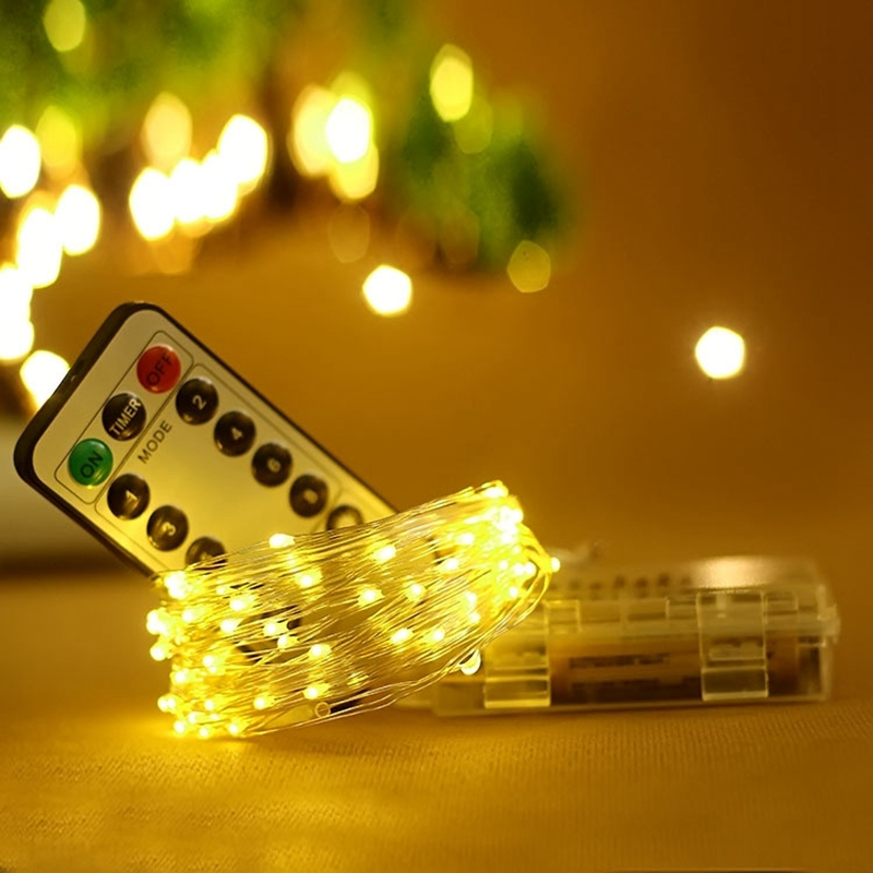 Waterproof Remote Control Fairy Garland Lights Battery/Usb LED Light 8Mode Timer Christmas Wedding Party Decoration LED String