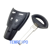 Free Shipping 3 Buttons Uncut Blade Car Flip Remote Key Fob Case Shell Replacement Cover For