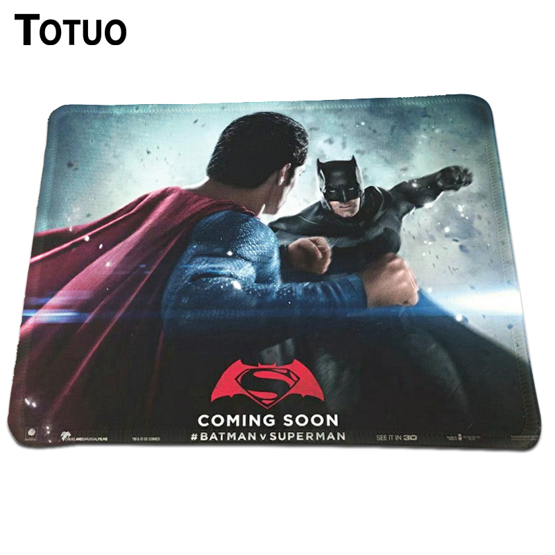 Hot Fashion Batman v Superman Mousepad Desktop PC Computer Mousemat For Optical Laser Mice Pad Gaming Speed Mats