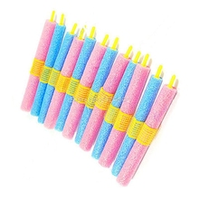 Mina New Set of 12pcs Soft Foam Anion Bendy Hair Rollers Curlers Cling HTY07