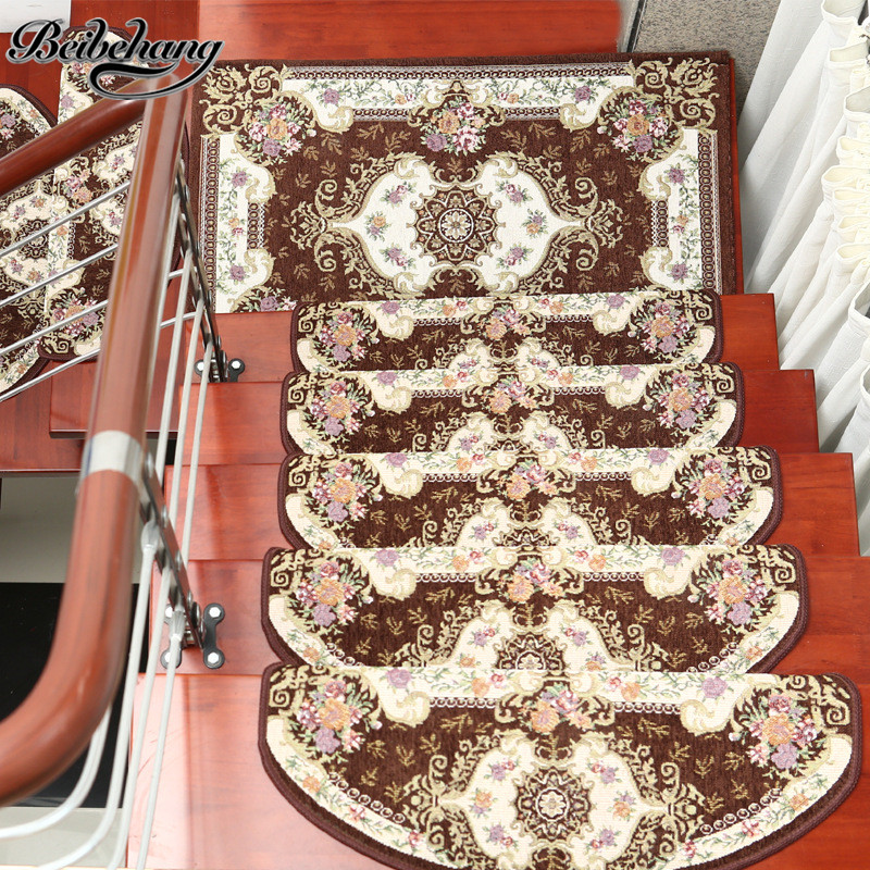 beibehang європейські сходи матові педальні килимки додому пластикові протиковзні сходи килимки повний підлогу кут користувальницькі сходи степ-подушка