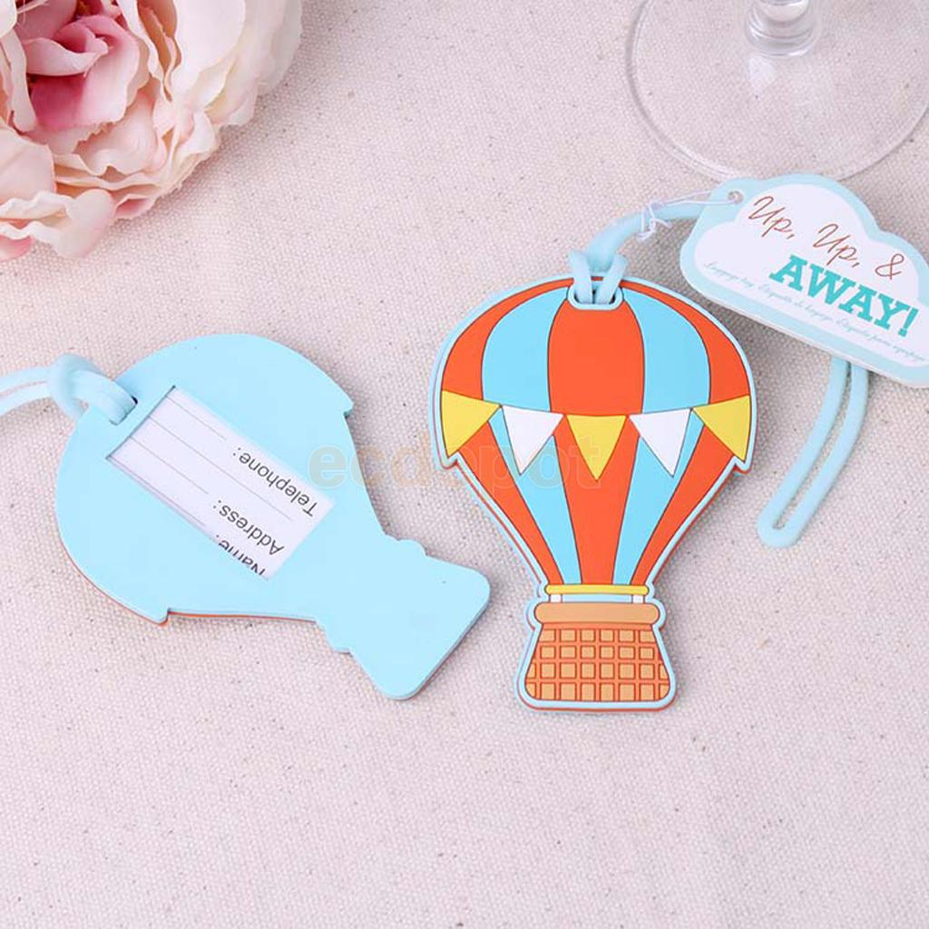Hot Air Balloon Travel Luggage Tags Name Bag Card Holder Bag Suitcase Labels