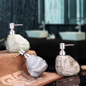 Image 2 - 400ml Creative Vintage Ceramic Marble Texture Hand Sanitizer Bottle Hotel Shampoo Shower Liquid Soap Liquid Lotion Empty Bottle