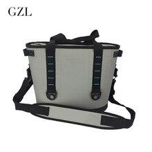 GZL Neue Grau Wasserdicht Kühltasche Große Mahlzeit Paket Mittagessen Picknicktasche Isolierung Thermische Isolierte