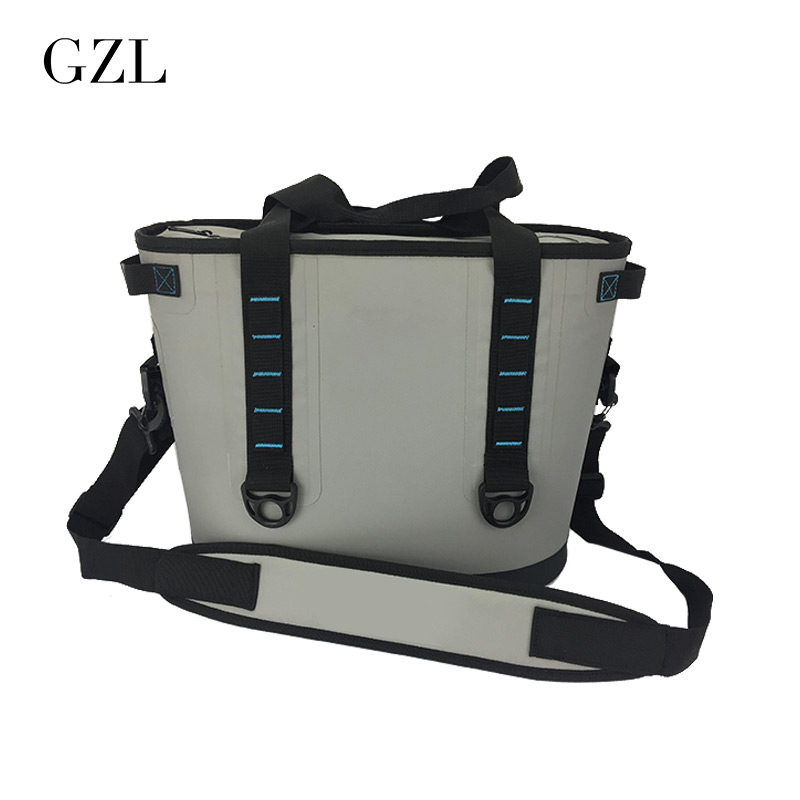 GZL New Gray Waterproof Cooler Bag Large Meal Package Lunch Picnic Bag Insulation Thermal Insulated  20 aosbos fashion portable insulated canvas lunch bag thermal food picnic lunch bags for women kids men cooler lunch box bag tote