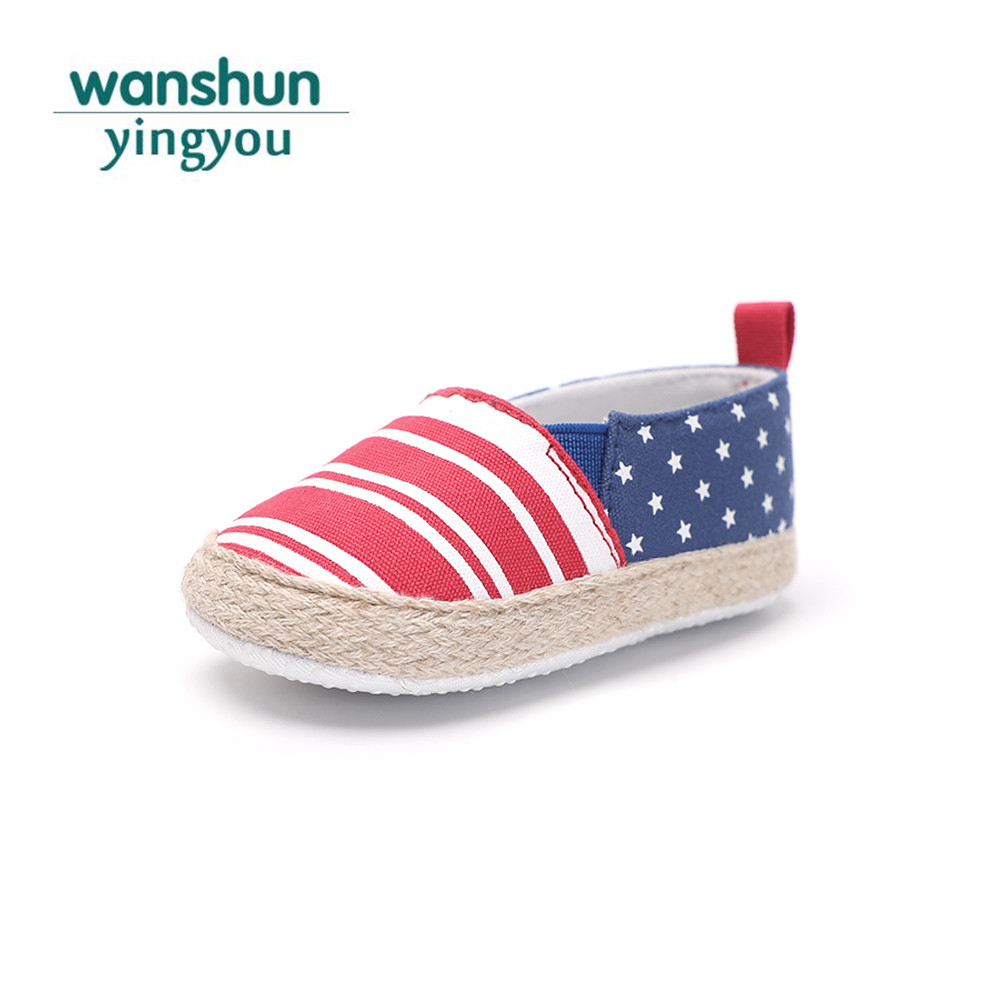 Baby boy girls shoes infant toddler moccasins new born bebes crib shoes summer fashion soft sole sneakers first footwear striped