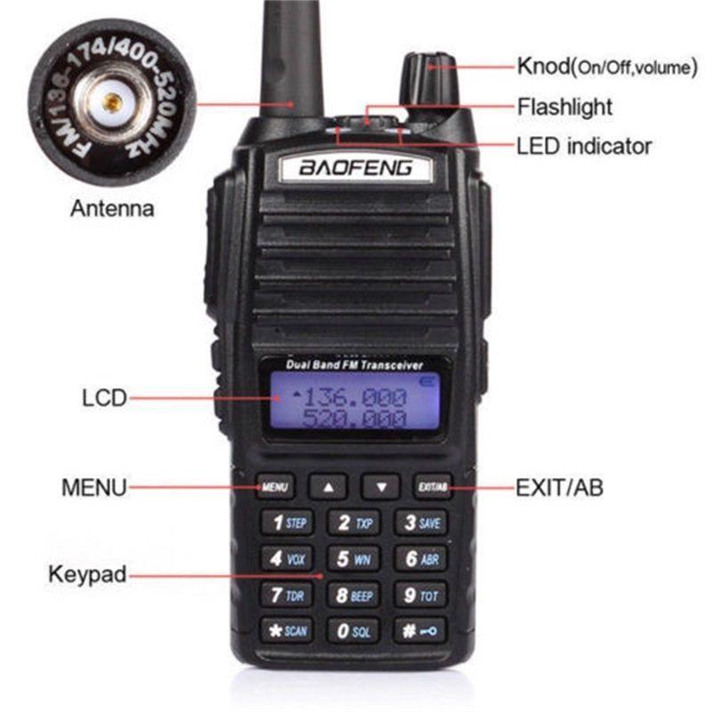 BAOFENG UV-82 VHF UHF Dual Band 136-174 / 400-520 2-PTT dvosmjerni - Voki-toki - Foto 4