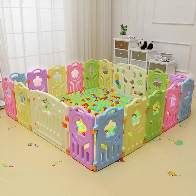 Fencing for Children Baby Safety Fence Playpen Play Yard Toddler ...