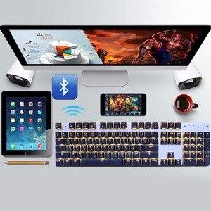 Image 5 - Bluetooth Wireless Gaming Mechanical Keyboard LED RGB Backlit Teclado Anti ghosting for Gamer phone ipad PC Russian English