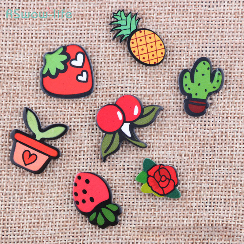 Cute Cartoon Resin Badge Brooch Backpack Accessories Clothing Jewelry Fruit Style For Dress Decoration Or Tourism memorial
