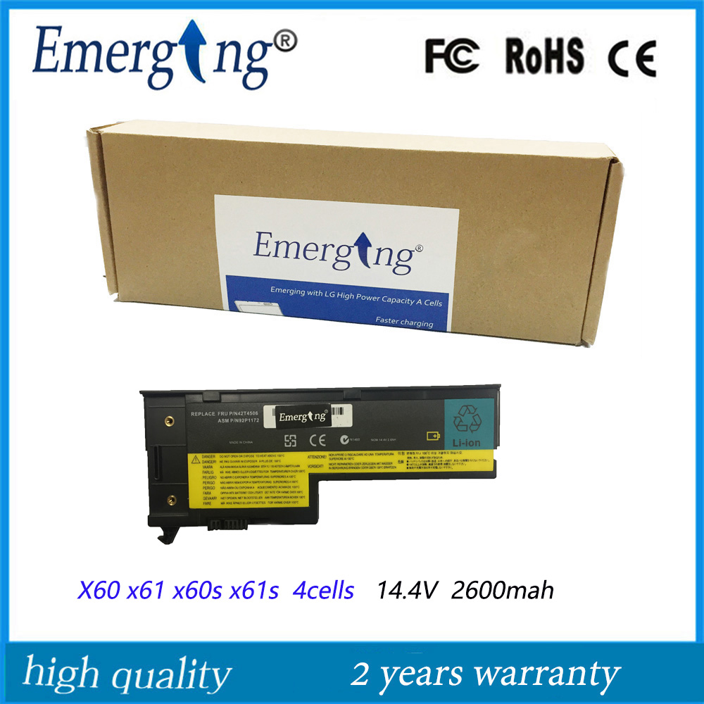4 ячейки 14,4 В 2600 мАч Корейская батарея для ноутбука lenovo x61 x60 x60s x61s