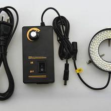Свет белый свет внутренний диаметр 62 мм мощность 10 Вт Регулируемая яркость лампа для микроскопа источник инструмент светодиоды для освещения кольцо