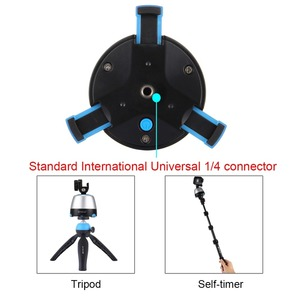 Image 4 - PULUZ Electronic 360 Degree Rotation Panoramic Head with Remote Controller &Tripod Mount &Phone Clamp for Smartphones,GoPro,DSLR
