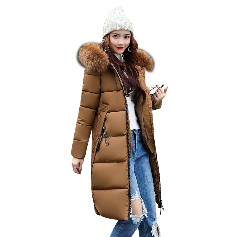 Quality 2018 Winter Women Long Warm Coat Faux Fur Hoodies   Parkas   Woman Wadded Down Jackets Cotton Clothing Plus Size M~3XL