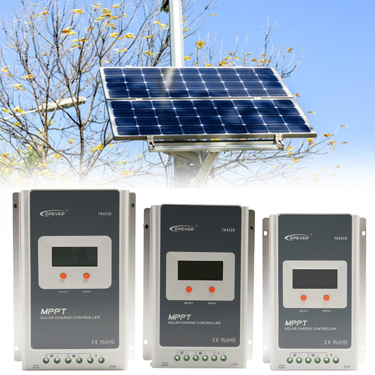 12/24 v MPPT de Charge Solaire Contrôleur avec MT50 Noir À Distance Compteur LCD Affichage Conception RS-485 Régulateur