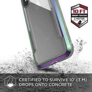 Image 2 - X doria Défense Bouclier Téléphone étui pour iPhone XR XS Max De Qualité Militaire Baisse Examinée Cas Coque Pour iPhone X XS Max Couvercle En Aluminium