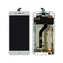Белый для ZTE Blade X3 ЖК-дисплей с сенсорным экраном дигитайзер в сборе с рамкой Бесплатная доставка