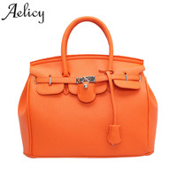 Aelicy Luxury New Zipper Package Europe And The United States Mobile Handbag Litchi Pattern Platinum Handbag