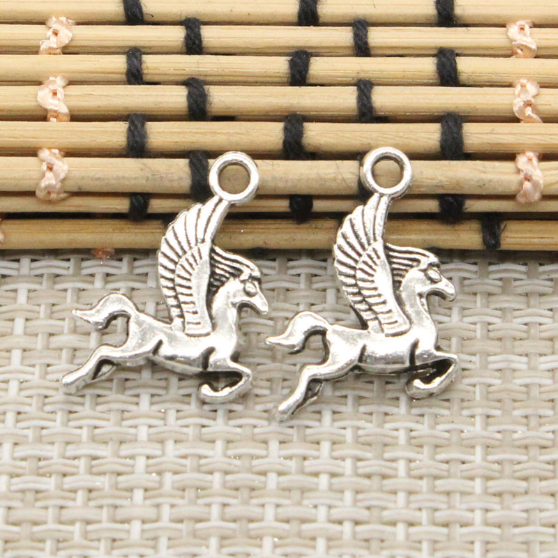 10pcs Charms pegasus flying horse 20*15mm Tibetan Silver Plated Pendants Antique Jewelry Making DIY Handmade Craft