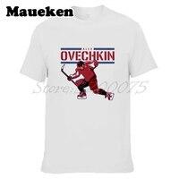 Männer Washington Russland 8 Alex Ovechkin T-shirt Kurzarm T-shirt männer Malerei Alexander Ovechkin W1203053