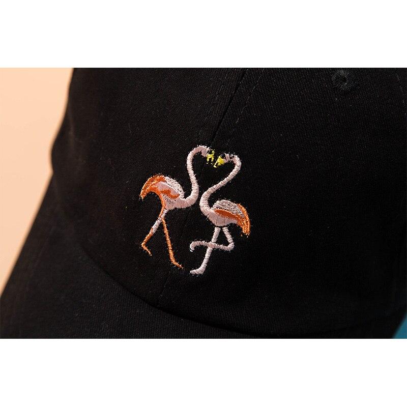 Fashion Baseball Cap Women Hat Dad Men Rapper Hip Hop Cap Snapback Casual Cotton Embroidery Flamingos Unisex Hats bone gorras in Men 39 s Baseball Caps from Apparel Accessories