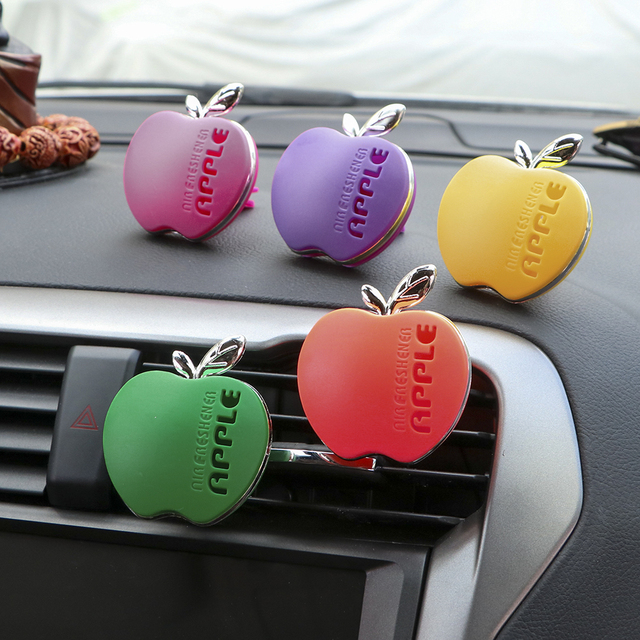 Car Perfume Air Freshener Apple Shape Original Fragrance Orange Lemon Apple Strawberry Lavender Scent Automobile Accessories