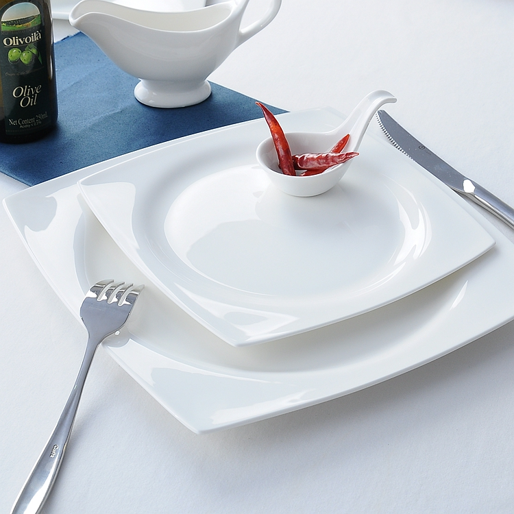 8 Inch Plain White Bone China Wedding Decorative Dishes