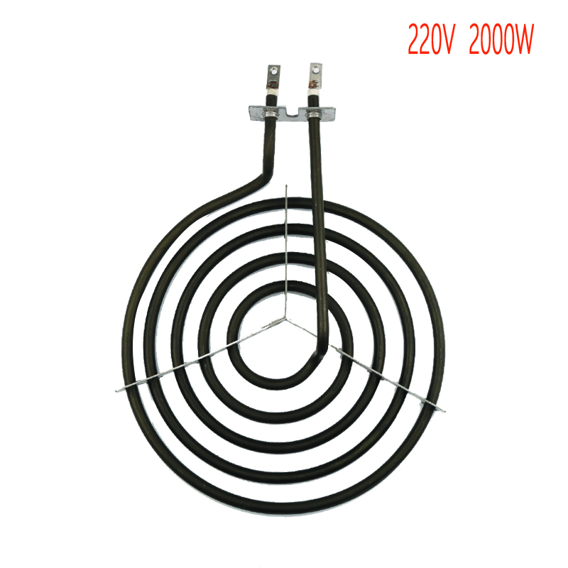 2000W whirlpool stove surface burner heating elements,5 rings mosquito coil type oblate heater tube with tripod washing machine parts heating tube 1600w 2000w 17 5 30cm