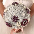High Quality 2016 luxurious Customized Bridal YIYI  Bouquet With Pearl Beaded Brooch Wedding Colorful Bride 's Bouquet WD044