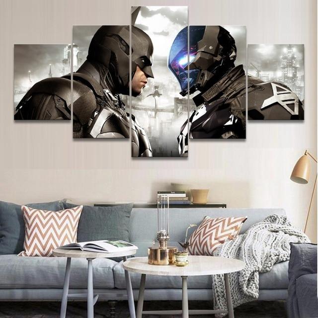 Dusuk Maliyetli 5 Parca Tuval Boyama Oyunu Batman Arkham Sovalye