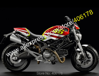 For 696 795 796 M1100 09-13 1100 1100S 2009 2010 2011 2012 2013 Multi-color ABS Fairing set (Injection molding)