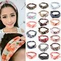 Hot New Fashion Women Girl Elastic Headwear Turban Floral Twisted Knotted Hairband Wrap Bandana Headband 20 Styles Z1