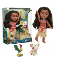 12inch Real Clothes Moana Action Figures Music Moana Talks Sing How Far I'll Go Light and Music Toy Dolls Children Gift