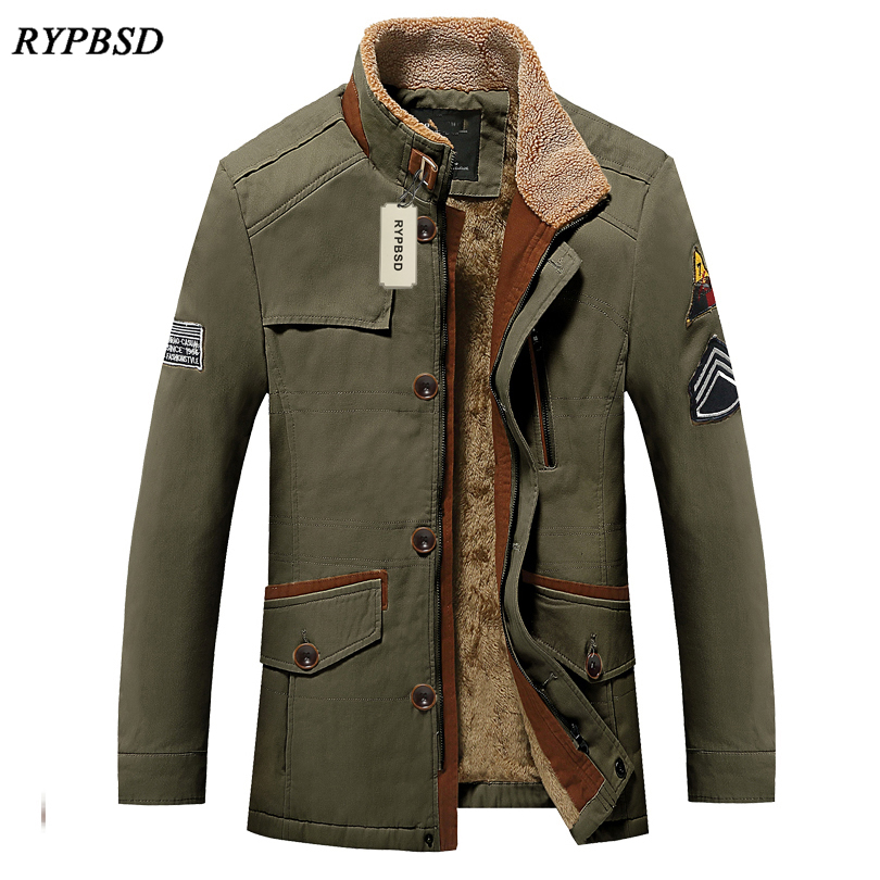 2017 Autumn Winter Collar USA Army Fleece Men Military Uniform Jacket Bomber Men Outdoors Brand Jacket Male Fashion Outerwear
