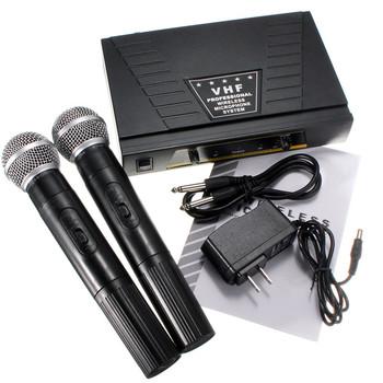 Wysokiej jakości mikrofony US wtyczka Dual Channel odbiornik komputera mikrofony 2 Mikrofon ręczny mikrofon System zestaw tanie i dobre opinie Karaoke mikrofon Wielu Mikrofon Zestawy wireless Cewaal other JP-103 Dynamic Microphone Wireless Systems Built-in Antenna