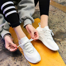 2019 all seasons new breathable flying woven socks old versatile womens shoes