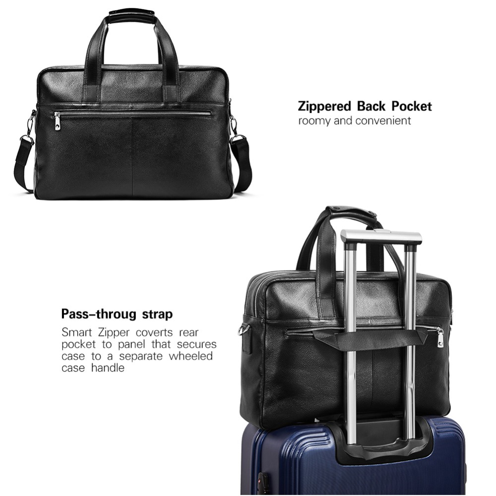 ed5c31efd Briefcases Clothing, Shoes & Jewelry BOSTANTEN Leather Briefcase Messenger  Business Bags 17 Laptop Handbag for Men