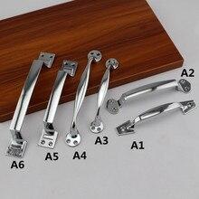 160mm 5″ 110mm modern fashion unfold install wooden door handles silver chrome dresser kitchen cabinet wardrobe door handle pull