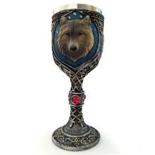 HSU Горячая чашка волк из нержавеющей стали Кубок EZESO смолы 3D Волк кофе чашка из нержавеющей стали чай vook de acero неизбежный