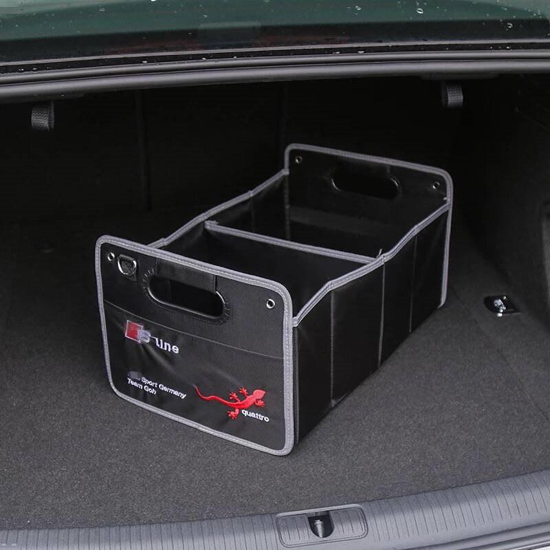1X Pour Audi A1 A3 A4 C5 C6 C7 B5 B6 B7 B8 A5 A6 A7 A8 Q3 Q5 Q7 s3 S4 S5 S6 S7 Intérieur Accessoires De Voiture Tronc Boîte de Rangement Rangement