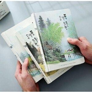 Image 2 - Caderno do vintage estilo chinês capa dura em branco páginas de cor papel ilustração diário viagem diário planejador sketchbook a5 notebooks