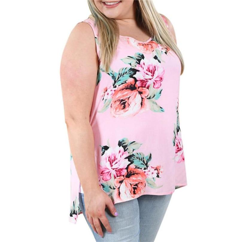 Newest Summer Women Tanks Sleeveless Slim Women Tanks Tops Short Ladies O-neck Tank Tees Black Flower Prints Plus S-5XL #JTW0