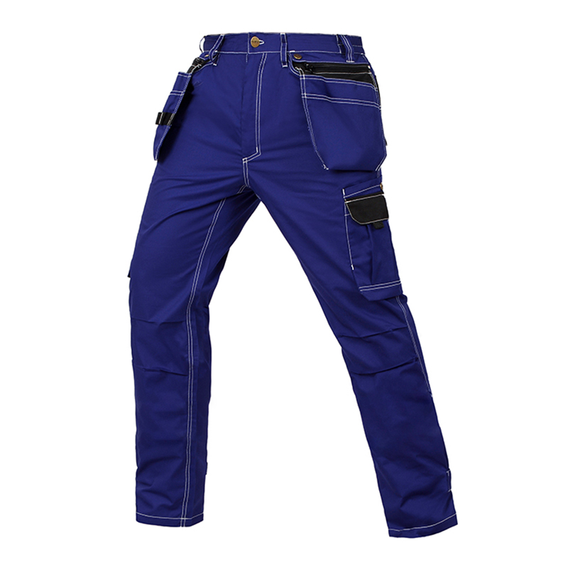 все цены на Men working pants summer thin style multi-pockets work trousers high quality wear-resistance factory worker mechanic cargo pants