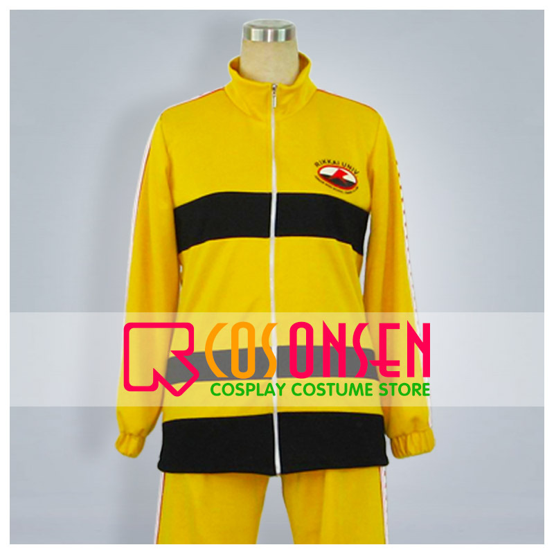COSPLAYONSEN Prince of Tennis Rikkai Dai Fuzoku Chuu Jersey Yellow Cosplay Costume 4 pcs Set