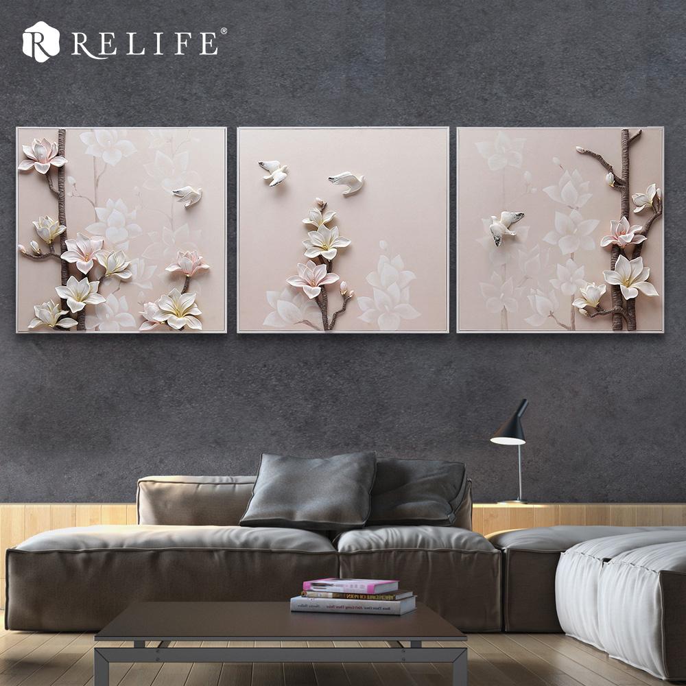 magnolia hecha a mano pinturas al leo en la decoracin de la pared pictures for living room pared