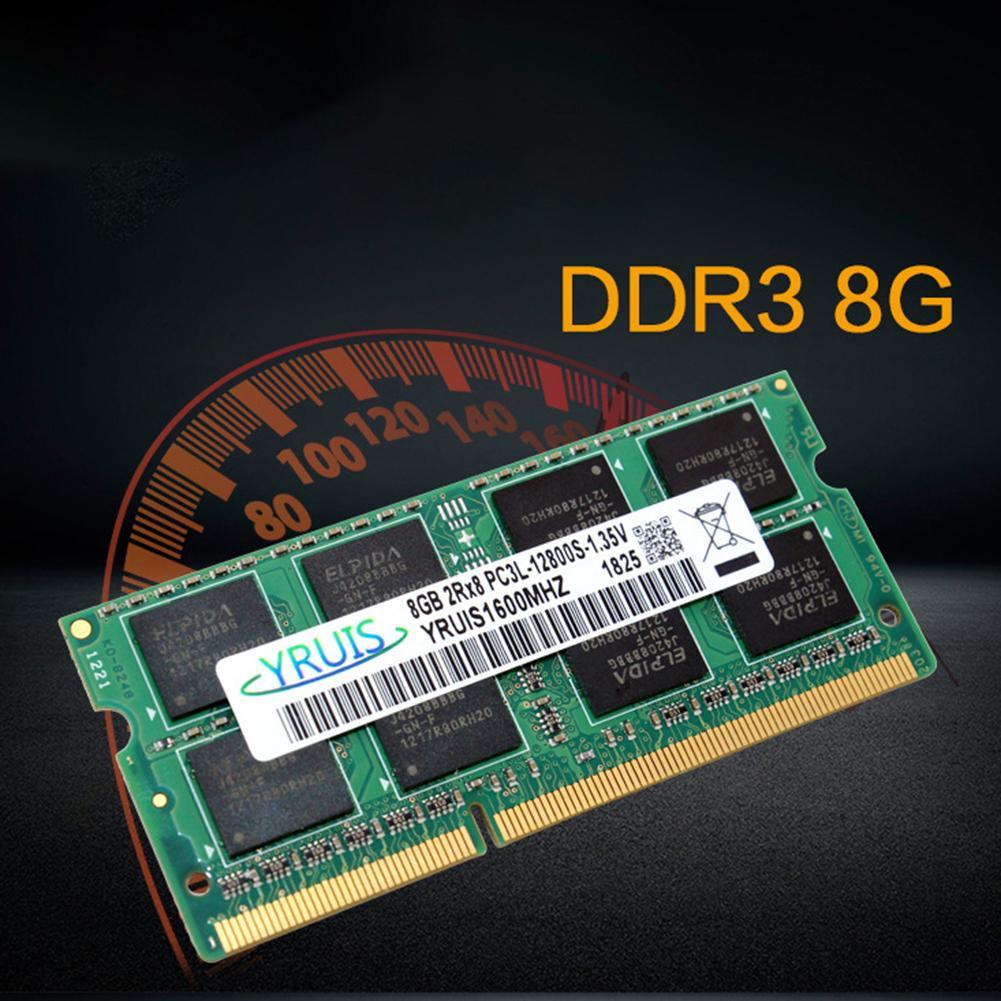Haute vitesse 8 GB DDR3 1600 MHz PC3-12800 204Pin faible 1.35 V ordinateur portable mémoire RAM Module bonne qualité
