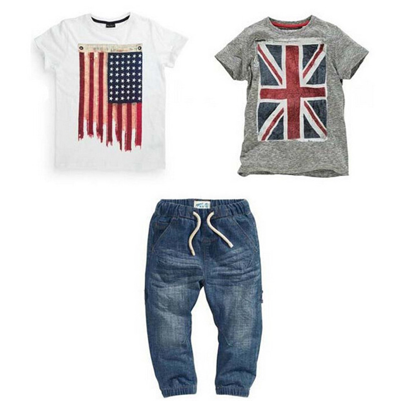 3PCS/Set 2017 Kids Clothes Children Boys Clothing Sets Children Summer Shorts Jeans Suit Outfits Costumes Vetement Enfant Garcon 2017 new kids clothes children summer clothing sets baby boys hip hop cotton costumes tracksuit vetement enfant garcon roupa