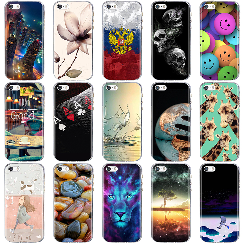 Cover For iPhone 5 5S SE Case for iPhone 5S Case Silicone Cute Case for iphone SE Cover for iphone 5 S Phone bag Ultra Thin